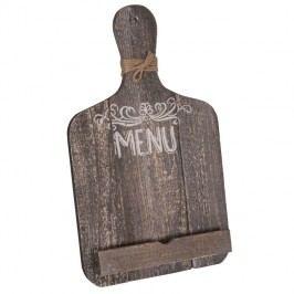 Kuchyňský dřevěný stojan na tablet ve tvaru krájecího prkénka Antic Line So Decouper