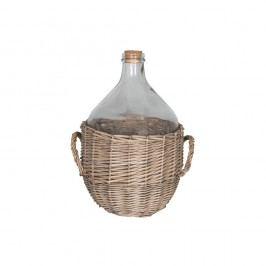 Skleněný džbán v proutěném košíku Antic Line, výška 40 cm