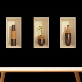 Sada tří 3D samolepek Ambiance Bamboo