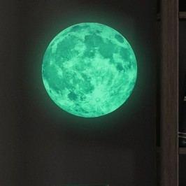 Samolepka svítící ve tmě Ambiance Real Moon