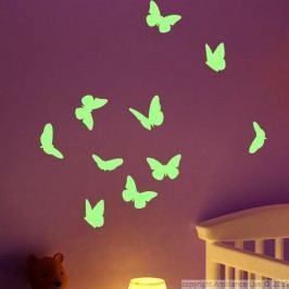 Samolepka svítící ve tmě Ambiance Butterflies