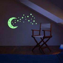 Samolepka svítící ve tmě Fanastick Fanastick Moon And The Stars
