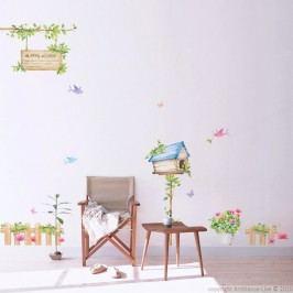 Sada samolepek Ambiance Happy House, 42x30 cm