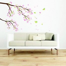 Sada samolepek Ambiance Tree Branch Pink Flowers