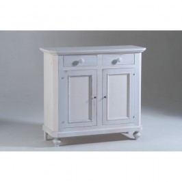 Bílá dřevěná dvoudveřová komoda Castagnetti Gisele