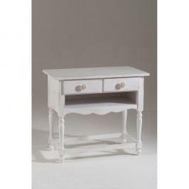 Bílý dřevěný TV stolek se 2 zásuvkami Castagnetti Art