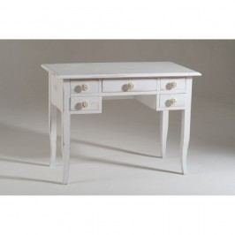 Bílý dřevěný pracovní stůl Castagnetti Uno