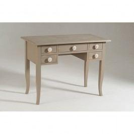 Béžový dřevěný pracovní stůl Castagnetti Dove