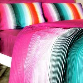 Povlečení s prostěradlem Rainbow, 160x220cm