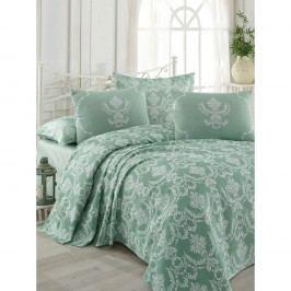 Bavlněný přehoz přes postel na dvoulůžko s povlaky na polštáře a prostěradlem Pure,200x235cm