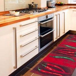 Vysoce odolný kuchyňský koberec Webtappeti Peperoncini,60x110cm