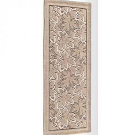 Béžový vysoce odolný kuchyňský koberec Webtappeti Maple Tortora,55x190cm