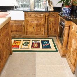 Vysoce odolný kuchyňský koberec Webtappeti Olive Oil & Co.,60x240cm