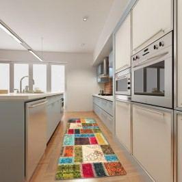 Vysoce odolný kuchyňský koberec Webtappeti Patchwork,60 x 115cm