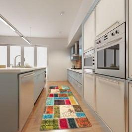 Vysoce odolný kuchyňský běhoun Webtappeti Patchwork,60 x 140cm