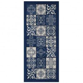 Modrý běhoun Floorita Maiolica, 55 x 115 cm