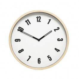 Bílé nástěnné hodiny Hübsch Purus