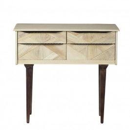 Konzolový stolek z masivního mangového dřeva Woodjam Gatsby Raw