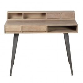 Pracovní stůl z masivního mangového dřeva Woodjam Indiana