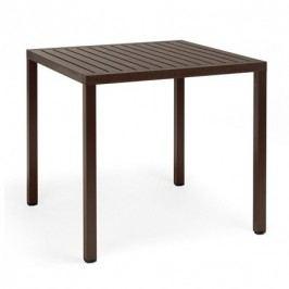 Hnědý zahradní stůl Nardi Garden Cube, 80x80cm