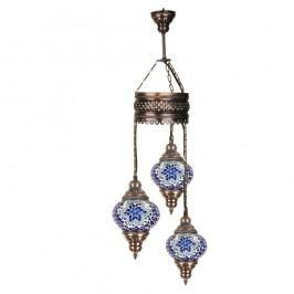 Trojitá skleněná závěsná lampa Homemania Fudžarja, ⌀13cm