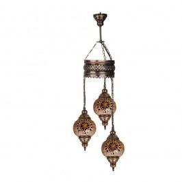 Trojitá skleněná závěsná lampa Homemania Mosaic