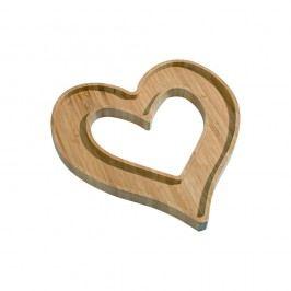Bambusová servírovací miska Kutahya Heart, 26 x 25 cm