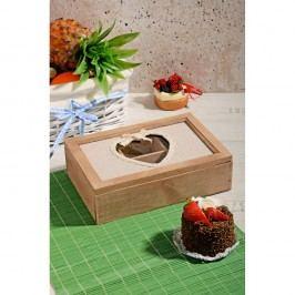 Bambusový úložný box na čaj Kosova Heart Shape, 24x16cm