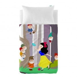 Dětský povlak na polštář a přehoz Mr. Fox Snow White, 100x130 cm