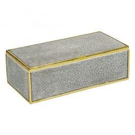 Šedý úložný box s detaily ve zlaté barvě Santiago Pons Pearl