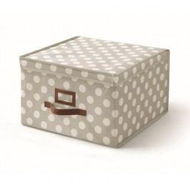Šedý úložný box s víkem Cosatto Jolie,40x40cm