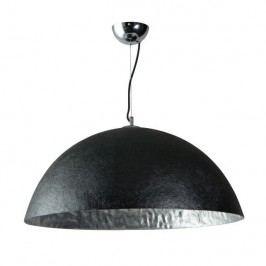 Černostříbrné stropní svítidlo ETH Mezzo Tondo, ⌀70cm