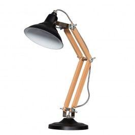 Dřevěná stolní lampa s černým stínítkem ETH Calia