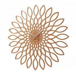 Nástěnné hodiny Present Time Sunflower Wood