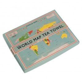 Kuchyňská utěrka v krabičce Rex London World Map, 22x16cm