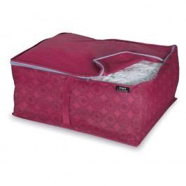 Fialový úložný box na peřiny Domopak Ella, vel. L