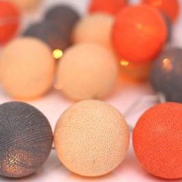 Světelný řetěz Irislights Peach Marble, 10 světýlek