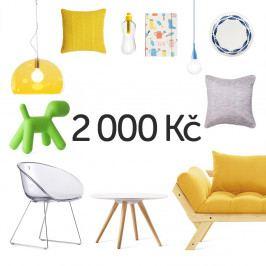 Elektronický dárkový poukaz na 2000 Kč
