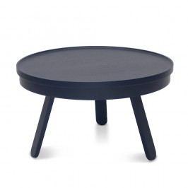 Modrý odkládací stolek z jasanového dřeva s úložným prostorem Woodendot Batea M
