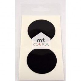 Sada 10 černých samolepek washi MT Masking Tape Casa