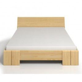 Dvoulůžková postel z borovicového dřeva s úložným prostorem SKANDICA Vestre Maxi, 200x200cm