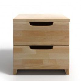 Noční stolek z bukového dřeva se 2 zásuvkami SKANDICA Spectrum