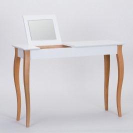 Bílý toaletní stolek se zrcadlem Ragaba Dressing Table,délka105cm