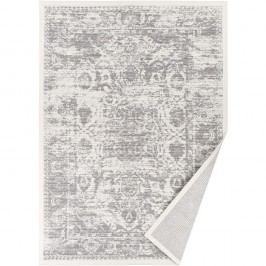 Bílý vzorovaný oboustranný koberec Narma Palmse, 70x140cm