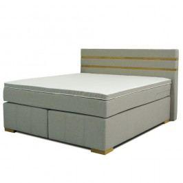Šedá dvoulůžková boxspring postel Sinkro Victoria, 180x200cm