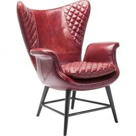 Červené křeslo Kare Design Velvet