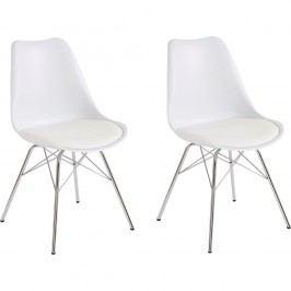 Sada 2 bílých jídelních židlí Støraa Jenny