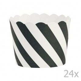 Sada 24 pečicích košíčků Miss Étoile Black Diagonal