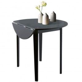 Černý skládací jídelní stůl Støraa Trento Quer, ⌀92cm