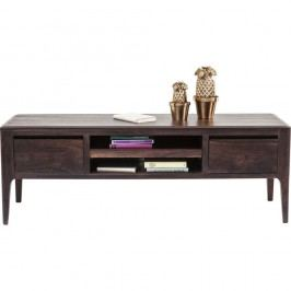 Nízká komoda/TV stolek ze dřeva sheesham v barvě ořechu Kare Design Brooklyn